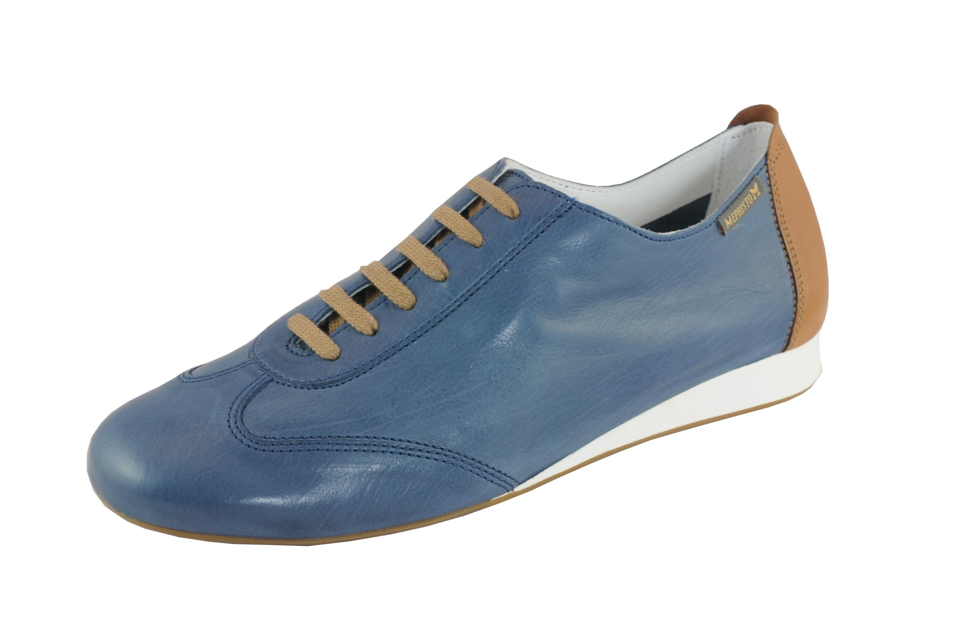 0656998e64b12c Mephisto BECKY jeans-Blu Leder Damen Schnürschuh Kautschuksohle