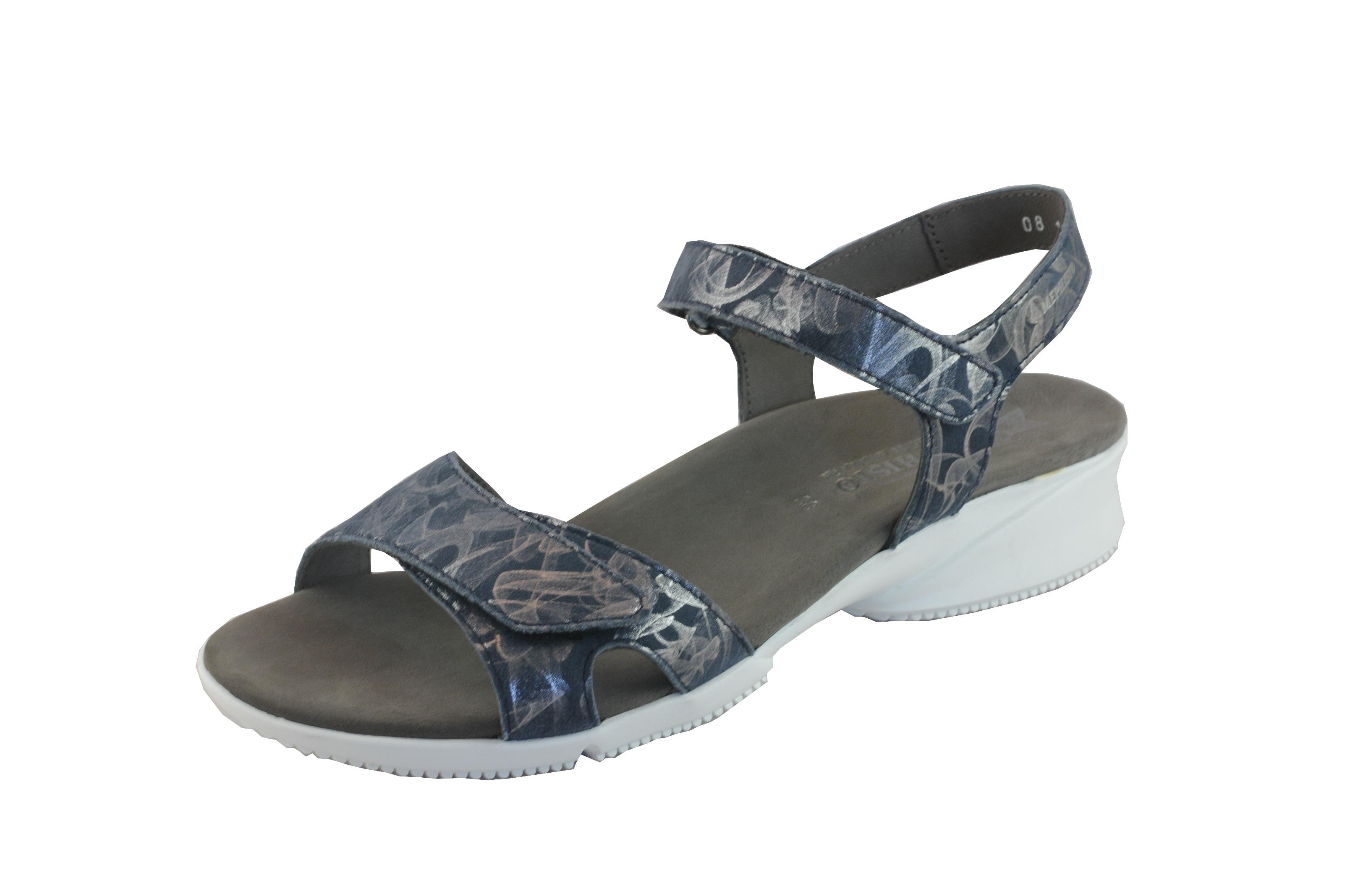 Sandalen, Nubukleder, Klettverschluss