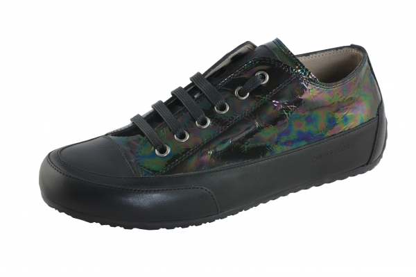 Candice Cooper Rock 02 schwarz multicolor Lackleder Damen Sneaker